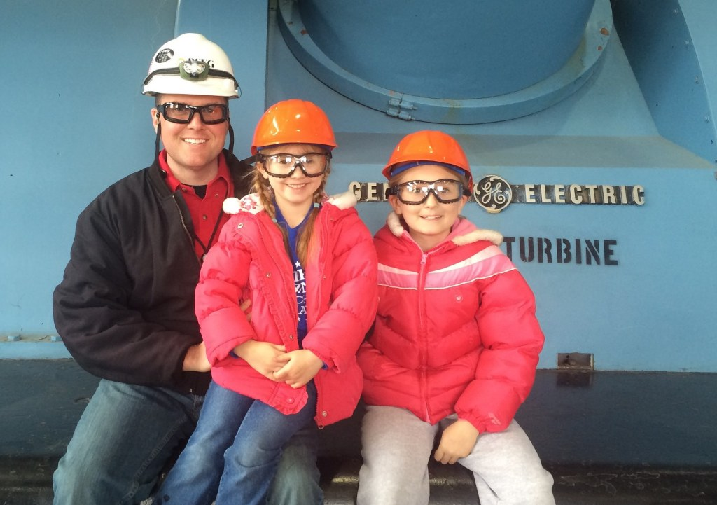 Family at Fossil Plant